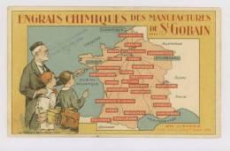 Engrais Chimiques Des Manufactures De St Gobain : Cartes Des 26 Usines *f5901 - France