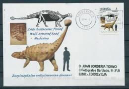 SPAIN*Euoplocephalus Ankylosaurian Dinosaur/Well-armored Head/Late Cretaceous Period/Dino/Dinosaurs/Rep Tilia/Animalia - Briefmarken
