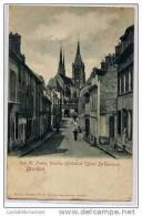 91 - DOURDAN - RUE St PIERRE, VIELLES HALLES ET EGLISE ST GERMAIN - DOS SIMPLE ( 1ère édition ) - Dourdan