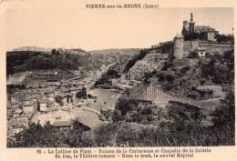Cpa VIENNE Sur Le RHONE, Colline De Pipet, La Salette, Theâtre Romain, Hôpital (12.41) - France