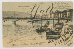Liège : Pont De La Boverie, Quai Des Pêcheurs, La Meuse, 1908 - Péniches *f6558 - Liege