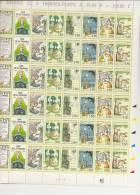 LES FABLES DE LA FONTAINE  FEUILLE DE 36 TIMBRES A 2,80 - Feuilles Complètes