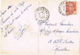 Postal MONETIER Les BAINS (Hautes Alpes) 1952. Vistas Montaña - Francia