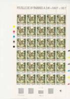 SAUMUR CROIX ROUGE   -   FEUILLE DE 30 TIMBRES A 2,80+0,60 - Feuilles Complètes