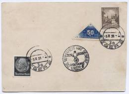 GERMANY, Third Reich, WW2 - Eger, 1938. Postal Stationery - Used Stamps