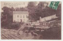 ORAGE DU 30 JUIN 1908 - LIGNE DE CHEMIN DE FER ELBOEUF-LOUVIERS - 1909 -2 SCANS- - Elbeuf