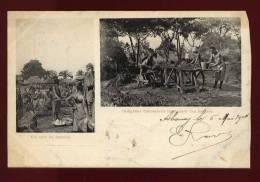 Cpa  Dahomey  Indigènes Dahoméens Fabriquant Des Briques , Un Coin Du Marché       RAM10 - Dahomey