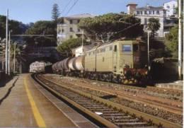 FS 11 Treno Ferrovie Italiane E 645.031 Zoagli Genova Railroad Train Italian Railways Treni Locomotiva Merci Lokomotiv - Treni