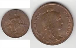 TRES JOLIE **** 10 CENTIMES 1920 DUPUIS - BRONZE **** EN ACHAT IMMEDIAT !!! - France