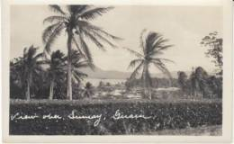 Guam Island, View Over Sumay, Village, C1900s/20s Vintage Real Photo Postcard - Guam