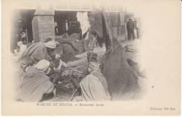 Biskra Algeria, Marche Market, Street Vendor C1900s Vintage Postcard - Biskra