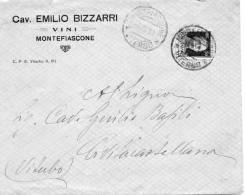 1931 LETTERA INTESTATA CAV EMILIO BIZZARRI VINI MONTEFIASCONE VITERBO - 1900-44 Victor Emmanuel III