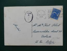 29/900   POSTKAART NAAR NELGIE TAXE - 1949-1980 (Juliana)