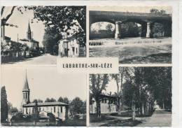 LABARTHE SUR LEZE - 4 Vues - Rue Principale, Le Pont ,l'Eglise ,La Place - Francia