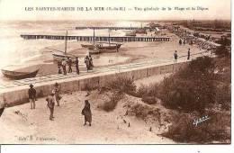 PROMENADE SUR LA DIGUE AUX SAINTE MARIE DE LA MER. REF 28153 - Saintes Maries De La Mer
