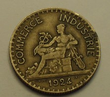 1924 - France - 2 FRANCS, Chambres De Commerce, 4 Ouvert, Open 4, KM 877, Gad 533 - I. 2 Franchi