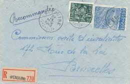 891/19 -  Enveloppe RECOMMANDEE TP Exportations WENDUINE 1949 Vers Bruxelles - 1948 Export