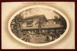 Cpa Sri Lanka Ceylon  Ceylan Colombo Grand Oriental Hotel Palm Garden And Restaurant    RAM14 - Sri Lanka (Ceylon)