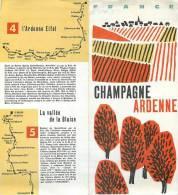 : Réf :GR-12-0121  : Dépliant Touristique Champagne Ardenne - Publicités