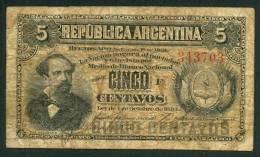 ARGENTINA , 5 CENTAVOS 4.10.1883. P-1 - Argentine