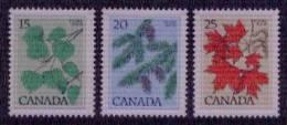 Canada Yvertnrs:637/39 Postfris - Végétaux