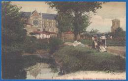 CPA - VENDEE - CHALLANS - VUE PRISE DE L'ILE D'AMOUR - Mlle Manoury Librairie Mercerie - Challans