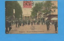 83 DRAGUIGNAN: Boulevard Esplanade Et Préfecture (pli Coin Gauche) - Draguignan