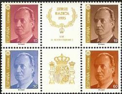 España 1995. Serie Basica Juan Carlos I. Ed 3378A / 3381A. MNH. **. - 1991-00 Ungebraucht