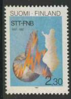 Finland Suomi 1987 Mi 1034 YT 998 ** Centenary Of Finnish News Agency /100 Jahre Finnische Nachrichten-agentur (STT/FNB) - Andere