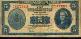 Indes Néerlandaises - 5 Gulden 1943 - Billets