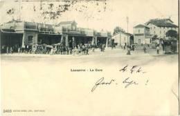 SWITZERLAND 1903 Lausanne La Gare U/B Postcard Used Stamp Remo - Schweiz
