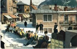 SWITZERLAND  Wintersport Heimfahrt Vom Rennen Unused Postc - Schweiz