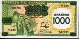 Grèce - 1000 Drachmes 1939 - Grèce