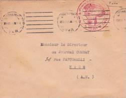 1945 - VAR - ENVELOPPE De La PLACE De FREJUS ST RAPHAËL - Marcophilie (Lettres)