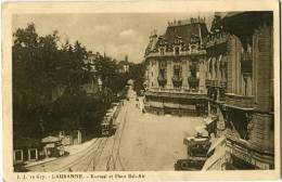 SWITZERLAND 1927 Lausanne Kursaal Et Place Bel Air JJ 10617 Po - Schweiz