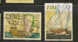 IRELAND - EIRE - 1992 Ships - Boats   - Yvert # 788/9 - USED - Ireland