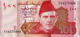 Pakistan New 100 Rupees Bank Note 2011 Signature (YASIN ANWAR) NEW ISSUE - Pakistán