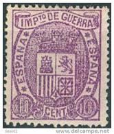 ES155-2228TESO. España,Spain,Espagne.ESCUDO DE ESPAÑA..IMPUESTOS DE GUERRA .1875.(Ed 155*) Con Charnela.MAGNIFICO - Otros