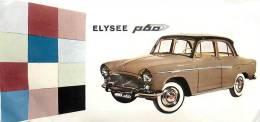 : Réf :GR-12-0133  : Papier Publicitaire Automobile Elysée P 60 - Voitures