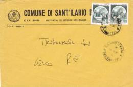 Carta Comune Di SANT' ILARIO D'ENZA (Re) 1987. - 1981-90: Storia Postale