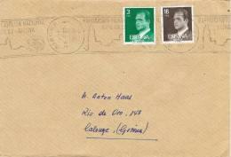 Carta GERONA 1987 . Fechador Rodillo Exposicion Filatelina EXFILNA 87 - 1931-Hoy: 2ª República - ... Juan Carlos I