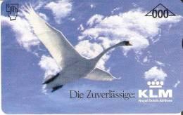 TARJETA DE AUSTRIA DE LA COMPAÑIA KLM  (BIRD-PAJARO -PLANE)  DUMMY - Avions