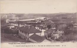 Cpa  Saint-Jean-de-Luz.  Un Coin De Ciboure Et La Nivelle.  ( 2 Scans ) - Saint Jean De Luz