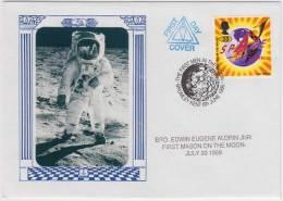 Freemasonry, First Mason On The Moon, Edwin Eugene Aldrin, Masonic Cover, Great Britain - Freemasonry