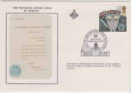 Freemasonry, The Provincial Grand Lodge Of Armagh, Masonic Cover, Armagh Observatory, Great Britain - Francmasonería