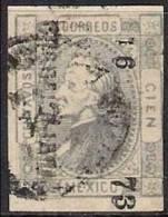 MEXICO 1872 100c GREY Nº 53 I - Mexico