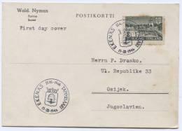 FINLAND, Suomi - Tammisaari, Ekenas, Postal Stationery To Croatia (ex Yugoslavia), 1946. - Finlandia