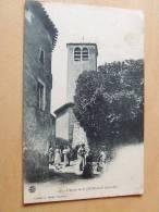 Carte Postale Ancienne : SAINT-JEURE D´AY : L´Eglise Animé - France