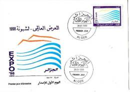 Algerie-FDC +EXPO 98- LISBOA. - Algeria (1962-...)