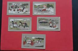 Lot De 5 Chromo-images Distribués Avec La Farine Salvy Mais Non Marqués Au Dos - Trade Cards